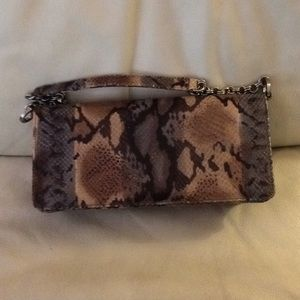 Lord & Taylor snake print small clutch